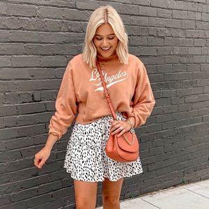 Wild Fable Peach Cozy Crop LA Graphic Sweatshirt